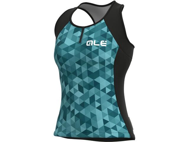 Alé Cycling Solid Triangles Tank Top Women, turkusowy/zielony